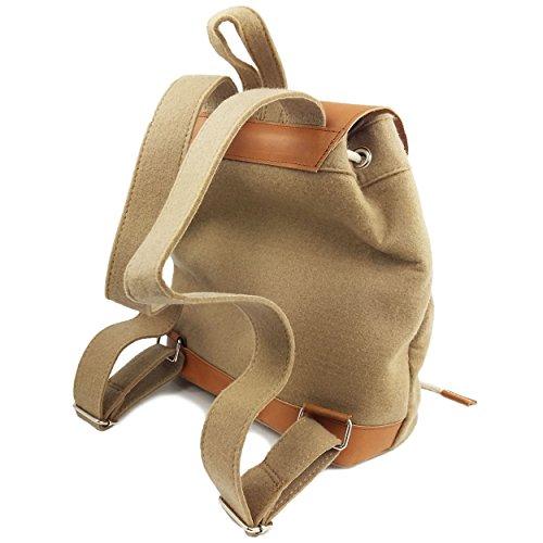 839b0d8e8153d Venetto Designer Rucksack aus Filz und Leder Elementen sehr leicht backpack  unisex Grau Cappucino