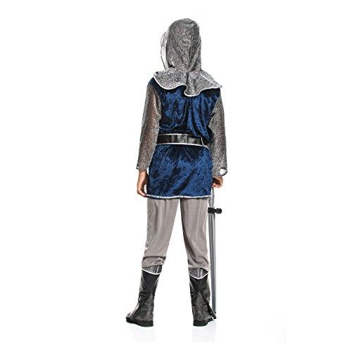 Kostümplanet® Ritter-Kostüm Kinder Jungen + Stiefel-Stulpen Faschingskostüm Größe 152 - 3