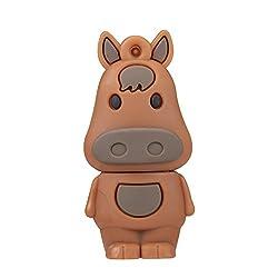 Sundarme Novelty Cute Animal Pony Horse Bonny Shape USB 2.0 Storage Flash Drive Memory Stick Pen Drive for School Students Kids Children Gifts (16GB)