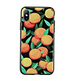 ymenstore Coque pour iPhone 5S, iPhone 5 Souple Noir Housse Case Bumper Étui Coque de Protection en TPU Soft Silicone Mat Doux Gel Case Cover pour iPhone 5S/SE Coque Orange