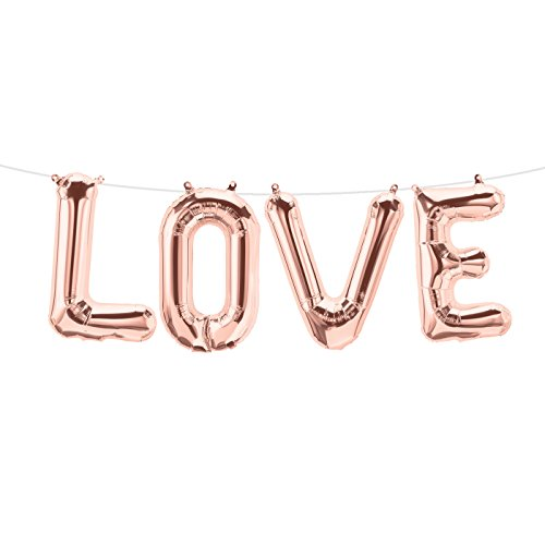 "Buchstabenballon-Set ""LOVE"" 41 cm"