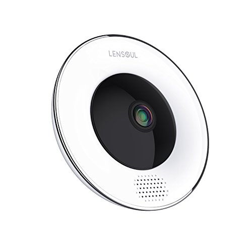 Lensoul Security Wifi Camera 1536P Wireless IP Camera 360 Degree Fisheye  Home Camera Built in Two-Way Audio Motion Detection Panoramic Camera with