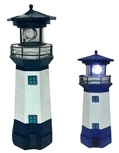 Solarleuchte Solar Leuchtturm blau, eine besondere Solarleuchte