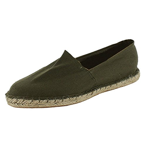 Nuovo da espadrillas scarpe da Plims casual pompe di tela piatto dimensioni UK 6 7 8 9 10 11 scarpe da ginnastica antiscivolo per Plimsoles estate sulla spiaggia, Marrone (Cachi), 43