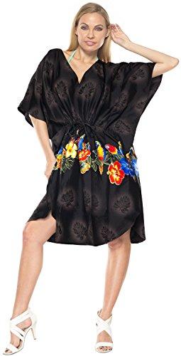 bikini couvrent robe aloha womens cordon v cou maillot de bain caftans beachwear blouse casual poncho lâche Noir