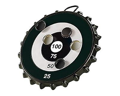 Playtastic Unisex Jugend NC-1681 Dart: Magnetisches Dartspiel mit 6, Ø 24 cm (Dartscheibe für Kronkorken), schwarz, 1
