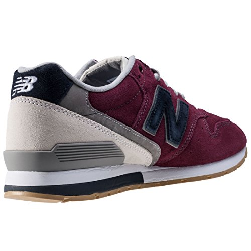 New Balance 996 Suede, Formateurs Homme Rouge (Burgundy With Navy)