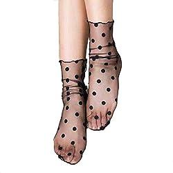 1 par de Las Mujeres Atractivas Nets Calcetines Cortos del Tobillo Mallas Medias de Encaje Tacones Altos de Medias Regard