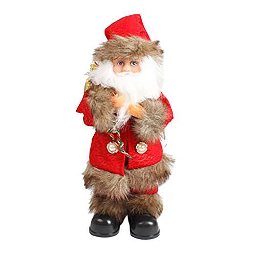 Kostüm Bart Hunde - MA87 Weihnachten elektrische Weihnachtsmann Toy Chimney Musical Ambulate Stunt Doll (A)