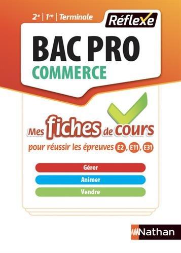 Gérer animer vendre Bac Pro Commerce : Tout le cours en fiches