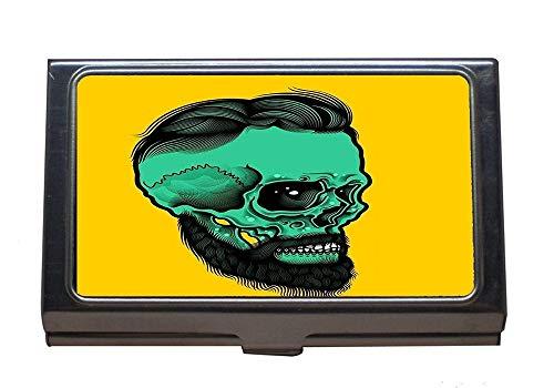 Visitenkartenhalter, Schädelknochen Skelett Dead Horror Head Halloween, Kartenhalter -