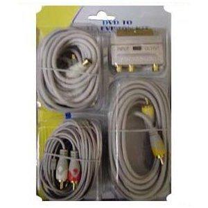 5m Phono Scart 3,5mm Stecker S-Video Kabel Kit TV DVD Audio/s-video-kit