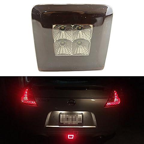 Newsun 1pcs LED Feu de brouillard arrière assemblée pour 2009-up Nissan 370Z (fonctions de frein arrière ampoule de brouillard, DE LA lumière, DE sauvegarde Intégré)