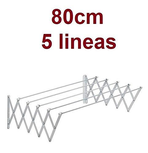 HOW LUCKY Tendedero Extensible Plegable metalico Pared