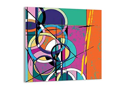 Arttor quadro su vetro - elemento unico - larghezza: 40cm, altezza: 40cm - numero dell'immagine 3601 - pronto da appendere - arte digitale - moderno - quadro in vetro - gac40x40-3601