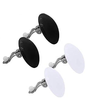 tumundo Set von 2 od 10 Stk / 1 Stk Ohr-Clips Ohrklemme Ohr-Stecker Ohrringe Fake-Plug Button Rund Acryl Damen...