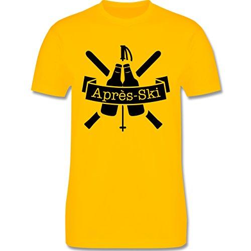 Après Ski - Après Ski Bierflaschen - Herren Premium T-Shirt Gelb