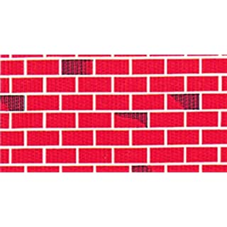Tu Tone Brick Pattern Corrugated (corobuff) Background Paper 1218mm x 7.5M individually boxed. This wide format makes it ideal for murals and stage decorations. Ideal themed home/brick display paper.