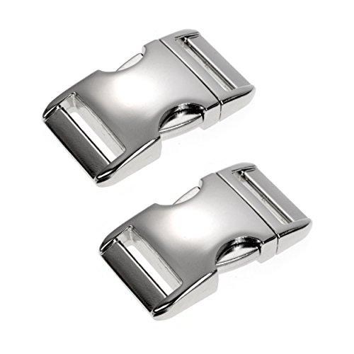 Metall-Klickverschluss Alumaxx, Set aus 2 Stück, 3/4