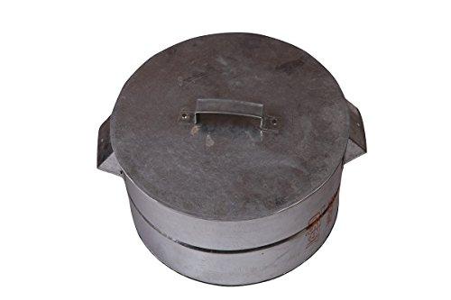 Handcuffs Multi Purpose Aluminium Gas Tandoor, Barbeque Griller/ Bati Maker/ Pizza Maker  available at amazon for Rs.790