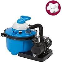 Miganeo Sandfilteranlage blau Speedclean 8500 inkl. Filterballs 402001