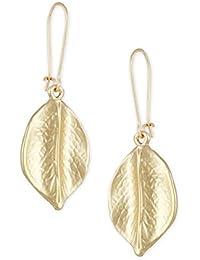 Karatcart Gold Metal Leaf Drop Earrings For Women