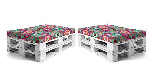 SUENOSZZZ - Pack 2 colchonetas para Sofas de Palet. Cojin Relleno con...
