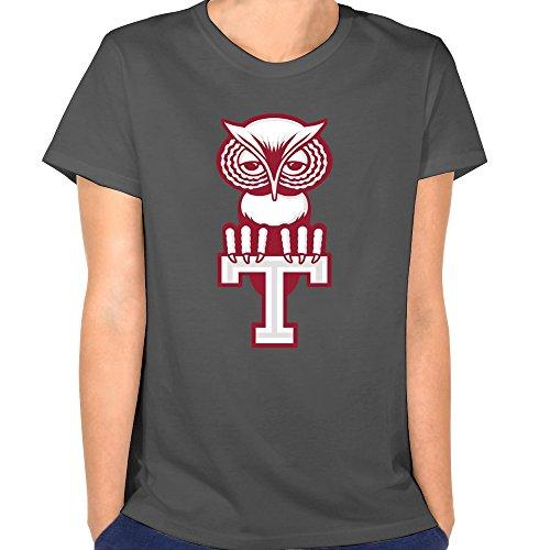 tjame Damen Pennsylvania Maskottchen T Logo Tempel Eulen T Shirt XXL Deep (Eule Maskottchen)