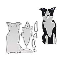 AxssjS Puzzle Handmade Cute Dog Metal Cutting Dies DIY Scrapbook Album Cards Embossing Stencil Template - Silver