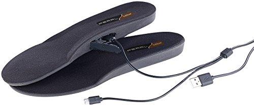 Produktbild PEARL outdoor Beheizbare Schuhsohlen: Beheizbare Akku-Schuheinlagen, App-Steuerung, Bluetooth 4.0, Gr. 39-41 (Beheizbare Einlegesohle)