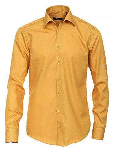 Venti 1482, Camicia Formale Uomo giallo senape