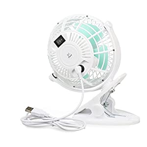 Keynice Mini USB Clip and Desk Personal Fan, Quiet Operation, Desk Fan, Desk Fans, mini fan, table fan,4 Inch 2 Speed Portable Cooling Fan USB Powered by NetBook, Computer MacBook, Power Bank, and PC, 360° up and down ,for Home Office…