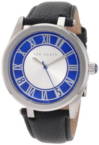 Ted Baker TE1077 - Reloj para hombres, correa de cuero color negro