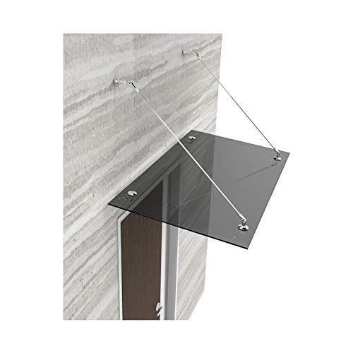Glasvordach Vordach Türvordach Türdach 200x90 cm aus 13,14 mm starkem Verbundsicherheitsglas (VSG)...