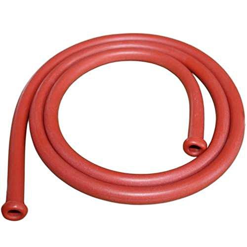 Irrigator Schlauch Gummi - rotbraun - 125 cm lang mit gebördeltem Rand - für Irrigator 1 Liter und 2 Liter - Verbindung zwischen Irrigatorbecher und Hahn