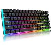 Mechanische Tastatur Gaming RGB Beleuchtung Blau Schalter 82 Taste, AJAZZ AK33 QWERTY Kabelgebundene Tastatur…