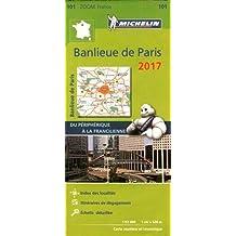 Carte Banlieue Paris Michelin 2017