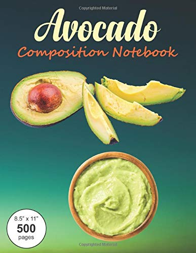 Casual Avocado (Avocado Composition Notebook: Large textbook sized wide-ruled paper book for note-taking, journaling and creative writing.)