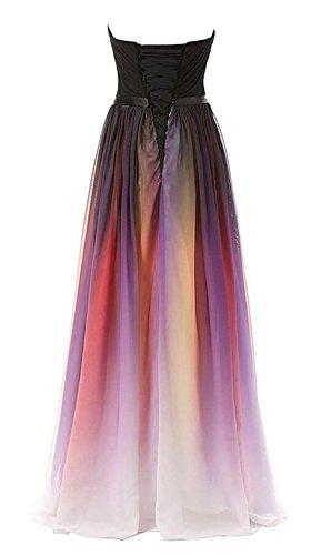 Bridal_Mall - Robe - Trapèze - Sans Manche - Femme Gradient-S
