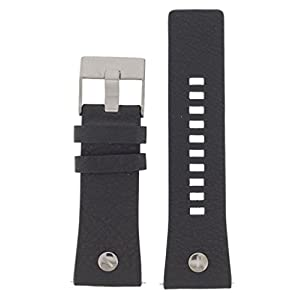 Diesel Uhrenarmband 28mm Leder Schwarz Uhrband DZ-3748 / LB- DZ3748