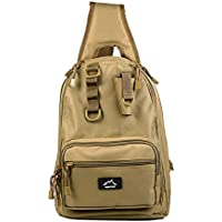 b0d34a6d0d40b HETTO Angeltasche Sling Bag MOLLE Leicht Schultertaschen für Herren Nylon  1000D Gepolstert mit Handytasche Schulterrucksack Umhängetasche