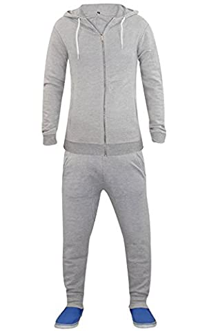 Rich Man Costumes - Men UnBranded White Cord Tracksuit Grey