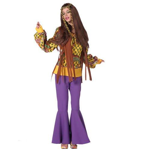 Twiggy- Hippieoberteil gelb-braun, Gr. - Twiggy Kostüm