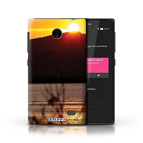 Kobalt® Imprimé Etui / Coque pour Nokia X / limite forestière conception / Série Coucher du Soleil Dessus de montagne