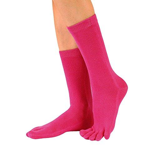 ESSENTIAL UK 4-11 | EU 36-46, White Mid-Calf Toe Socks TOETOE
