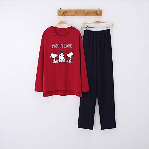 Männer Kostüm Buch Comic - Damen Baumwolle Schlafanzug Pyjama Set Lang Zweiteilige,Paar Baumwolle Langarm Männer und Frauen Anzug Home Service A-10 weiblich XL