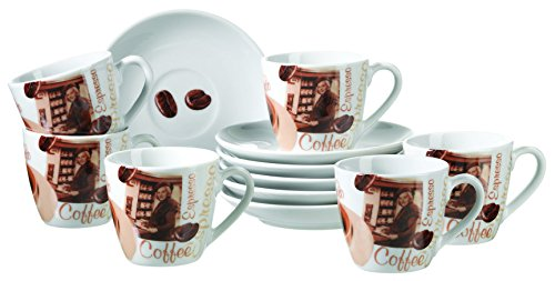 MÄSER, Serie Latte Macchiato, Espressotasse 85 ml, kleine Kaffeetassen im 6-er Set