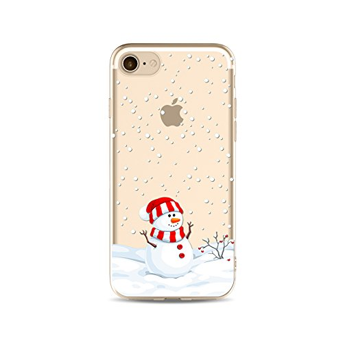 "Coque iPhone 7 Etui Housse Xmas,BoomTeck Coque Pour 4.7"" Apple iPhone 7 Silicone Souple Transparente Motif Clear Ultra Mince Anti Choc Anti-rayures Gel TPU Etui Protection Bumper Case Merry Christmas  14"