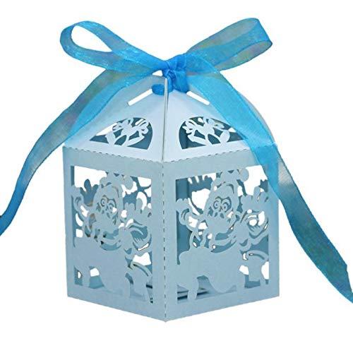(Amphia - 50pc Laser Cut aushöhlen Candy Box,50pc Laser geschnitten Durchbrochene Weihnachtssüßigkeit)