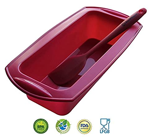 Non Stick Silicone Loaf Pan & Spatula by Backhaus® |
